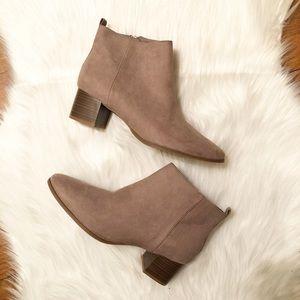New Old Navy Tan Faux Suede Ankle Boots 8.5